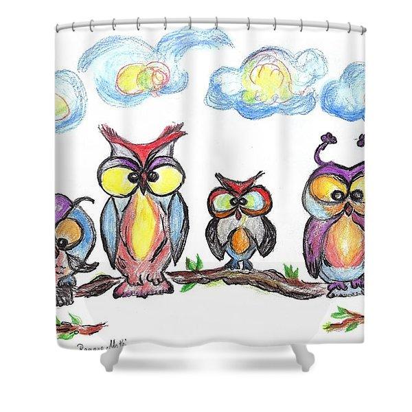 Four Friends  Shower Curtain