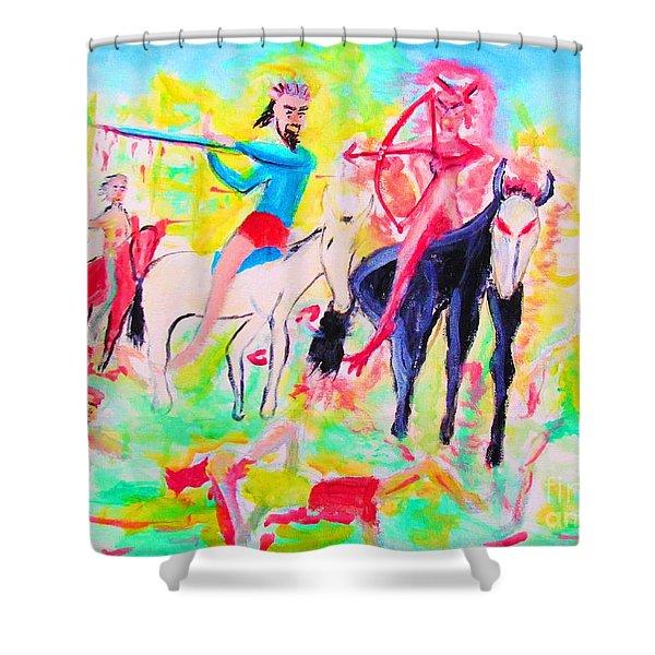 Four Horsemen Shower Curtain