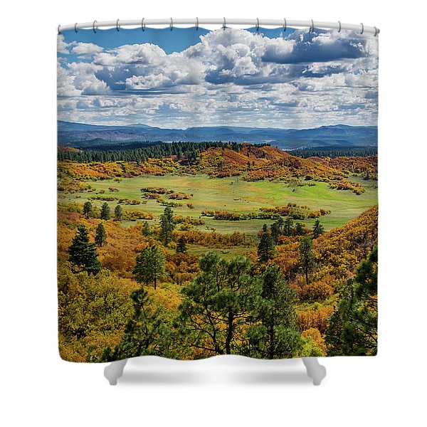Shower Curtain featuring the photograph Four Mile Road Peak Color by Jason Coward