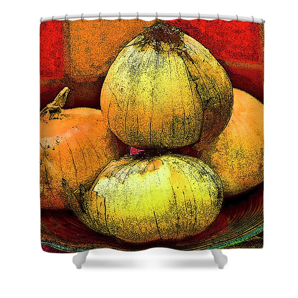 Four Onions  Shower Curtain