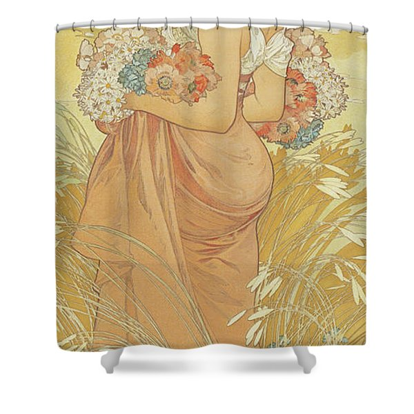 Four Seasons Summer, 1900 Shower Curtain