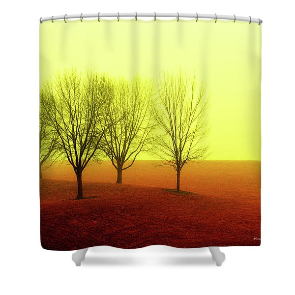 Four Trees Shower Curtain