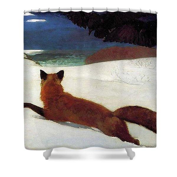 Fox Hunt Shower Curtain