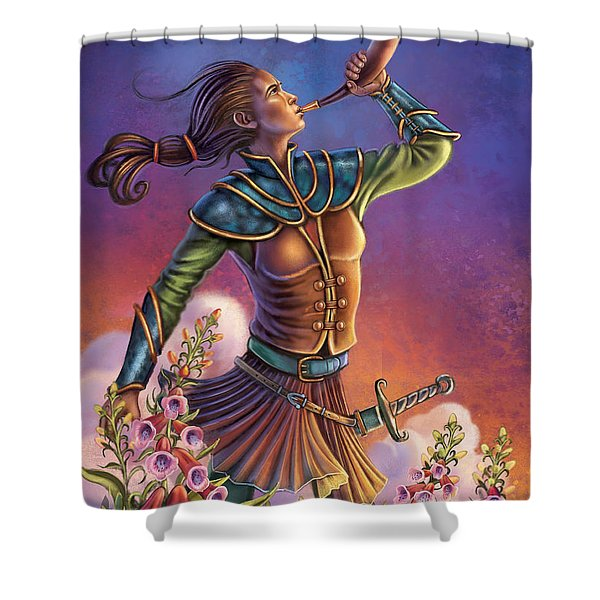 Foxglove - Summon Your Courage Shower Curtain