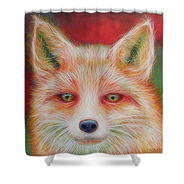 Foxy-loxy Shower Curtain