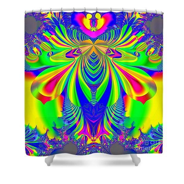 Fractal 31 Psychedelic Love Explosion Shower Curtain