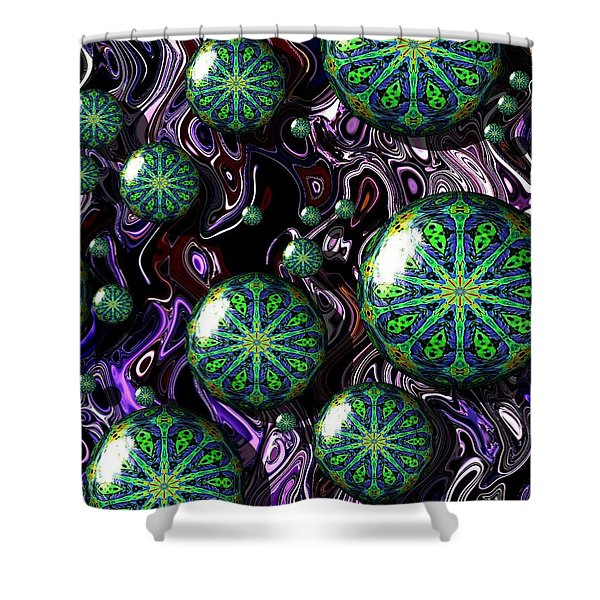 Fractal Abstract 7816.5 Shower Curtain