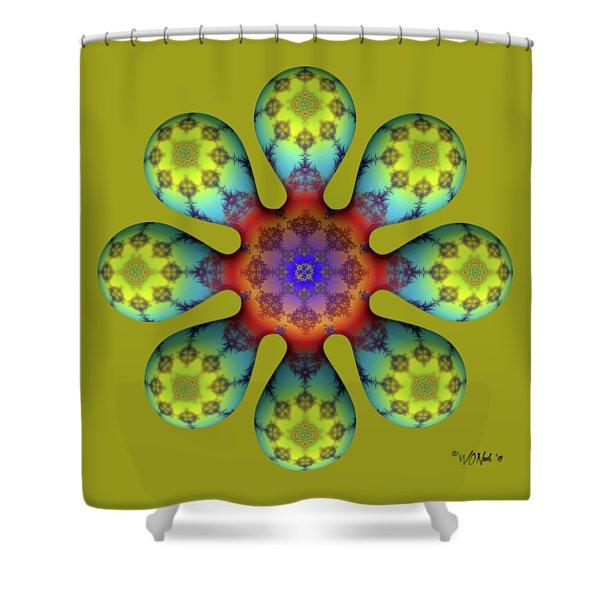 Fractal Blossom 4 Shower Curtain