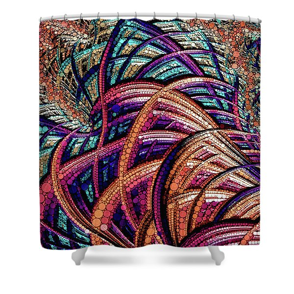 Fractal Farrago Shower Curtain