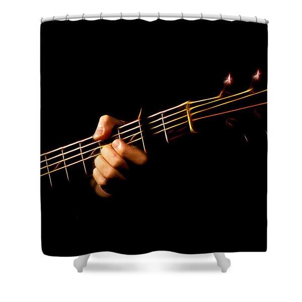 Fractal Frets Shower Curtain