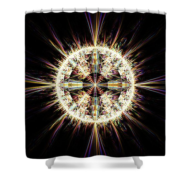 Shower Curtain featuring the digital art Fractal Jewel by Bee-Bee Deigner
