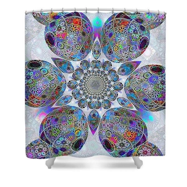 Fractal Meditations Shower Curtain