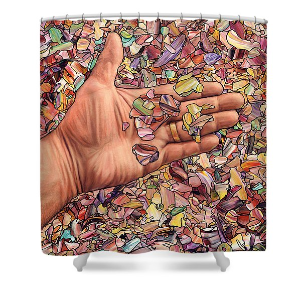 Fragmented Touch Shower Curtain