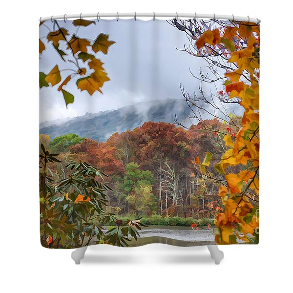 Framed By Fall Shower Curtain