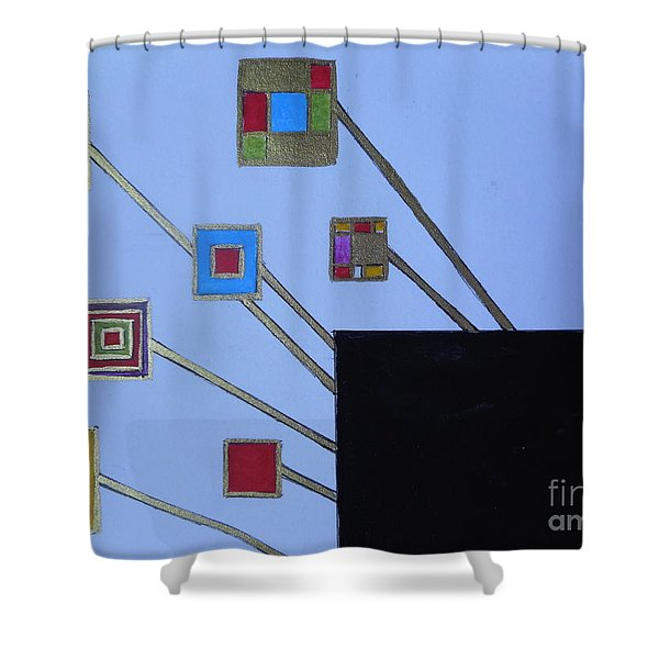 Framed World Shower Curtain