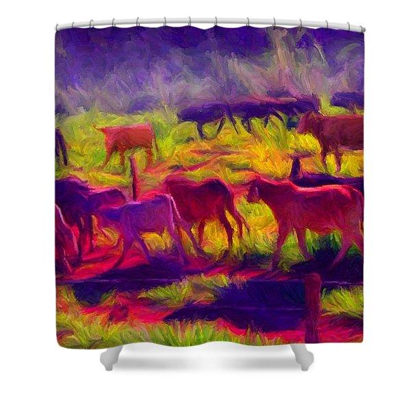 Franca Cattle 1 Shower Curtain