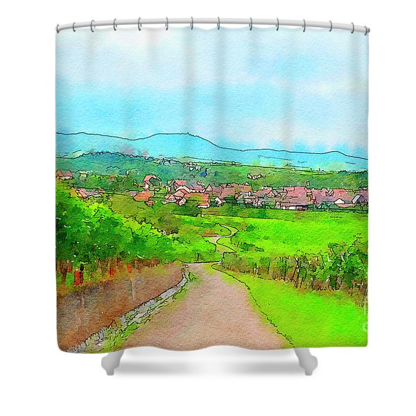 France Landscape Shower Curtain