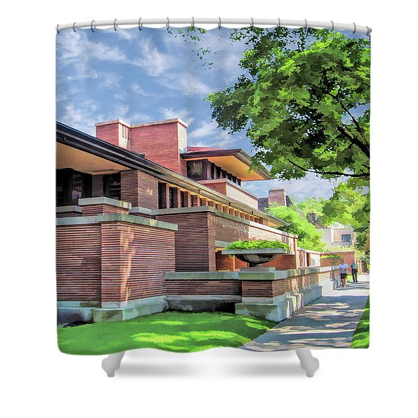 Frank Lloyd Wright Robie House Shower Curtain