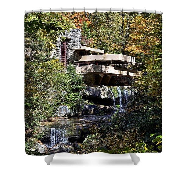 Frank Lloyd Wrights Fallingwater Shower Curtain