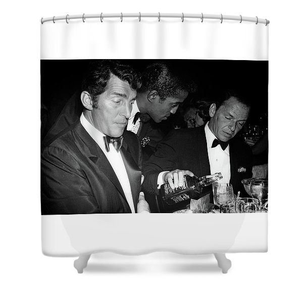 Frank Sinatra Drank American Whiskey His Way Shower Curtain