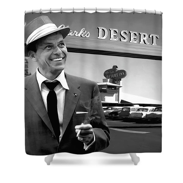 Frank Sinatra In Las Vegas Shower Curtain