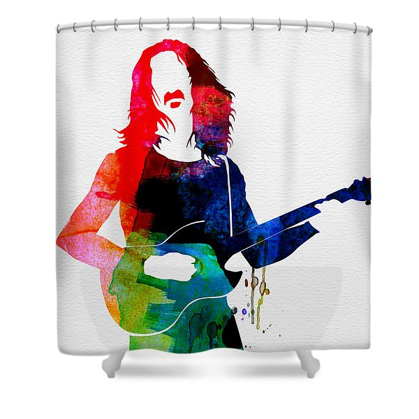 Frank Watercolor Shower Curtain