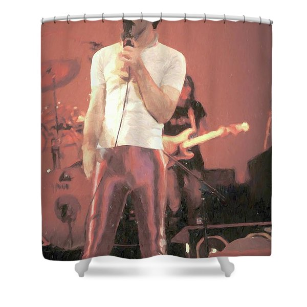 Frank Zappa Painting Shower Curtain