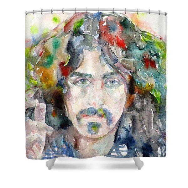 Frank Zappa - Watercolor Portrait.8 Shower Curtain