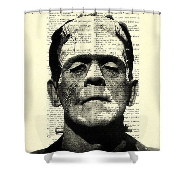 Frankenstein On Dictionary Page Shower Curtain