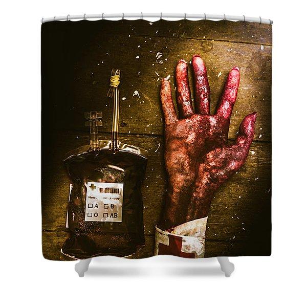 Frankenstein Transplant Experiment Shower Curtain