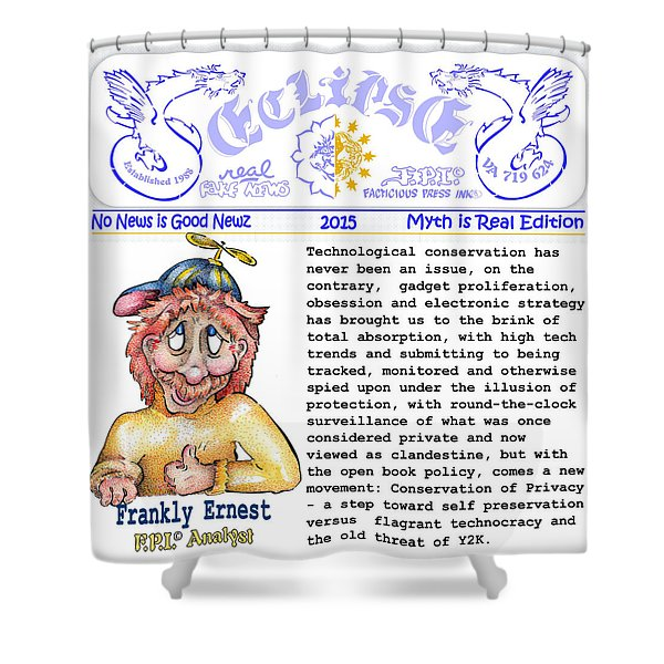Real Fake News Analyst Shower Curtain