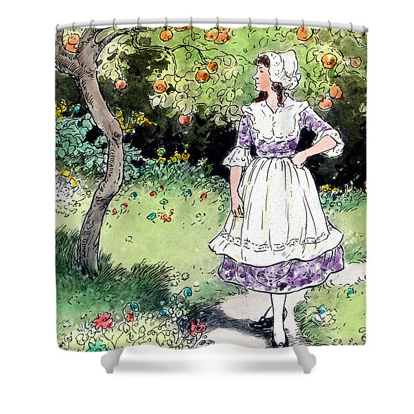Frau Holle Also Known As Mother Holle Or Old Mother Frost Shower Curtain