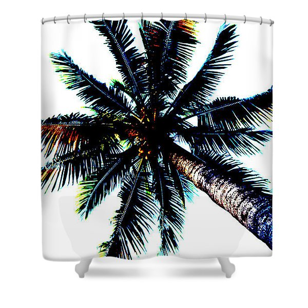 Frazzled Palm Tree Shower Curtain