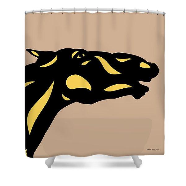 Fred - Pop Art Horse - Black, Primrose Yellow, Hazelnut Shower Curtain
