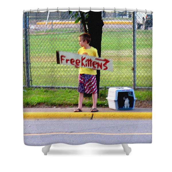 Free Kittens Shower Curtain