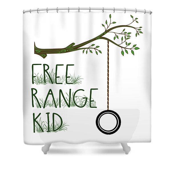 Free Range Kid Shower Curtain