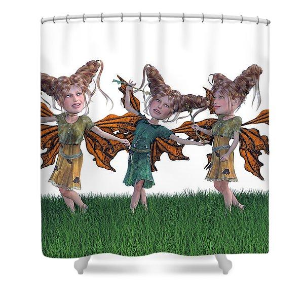Free Spirit Friends Shower Curtain