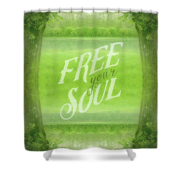 Free Your Soul Grand Canal Forest Fontainebleau Chateau Shower Curtain
