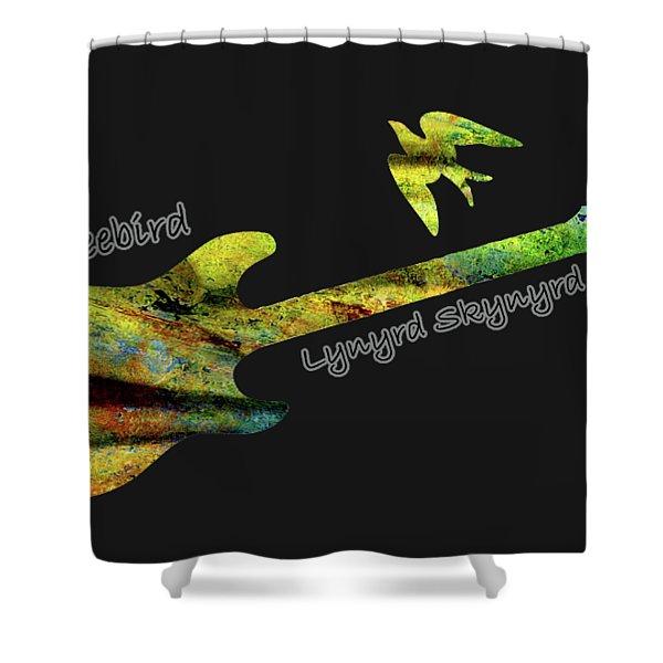 Freebird Lynyrd Skynyrd Ronnie Van Zant Shower Curtain