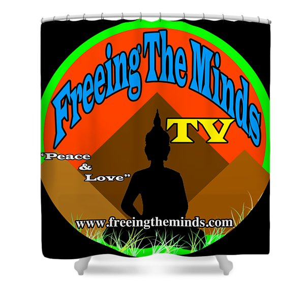 Freeing The Minds Supporter Shower Curtain