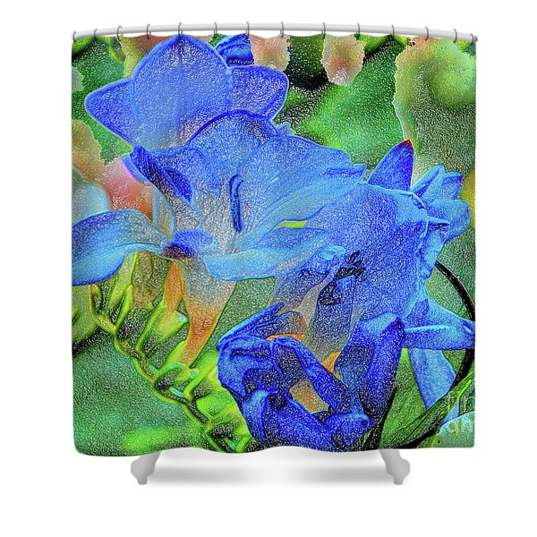 Freesia's Of Beauty Shower Curtain