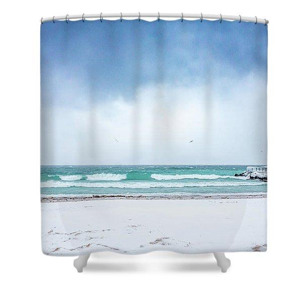 Freezing Storm Shower Curtain