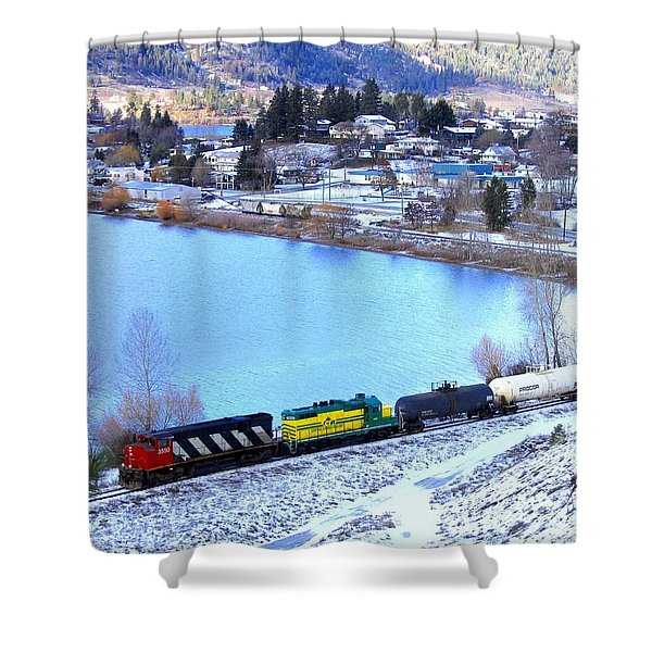 Freight Train At Oyama Shower Curtain