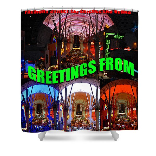 Fremont Street Experience Custom Card Shower Curtain