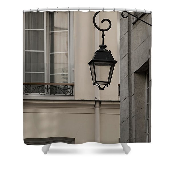 French Alley Lantern-sepia Shower Curtain
