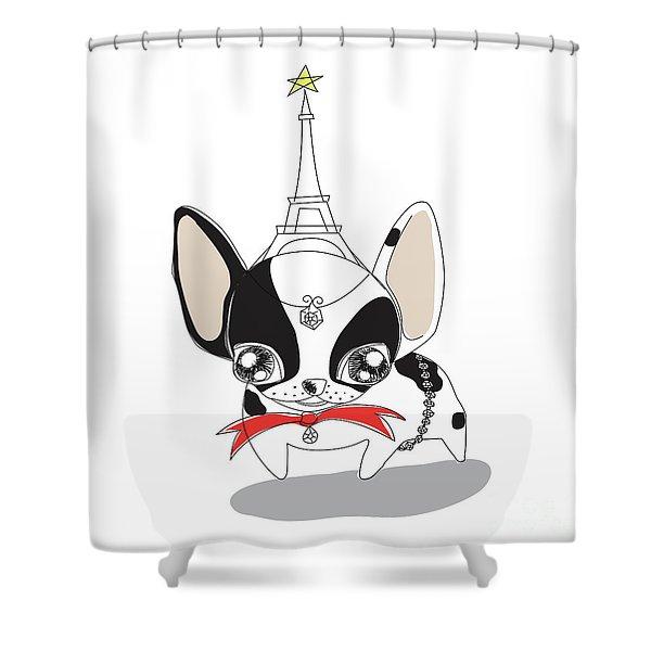 French Bulldog  Shower Curtain