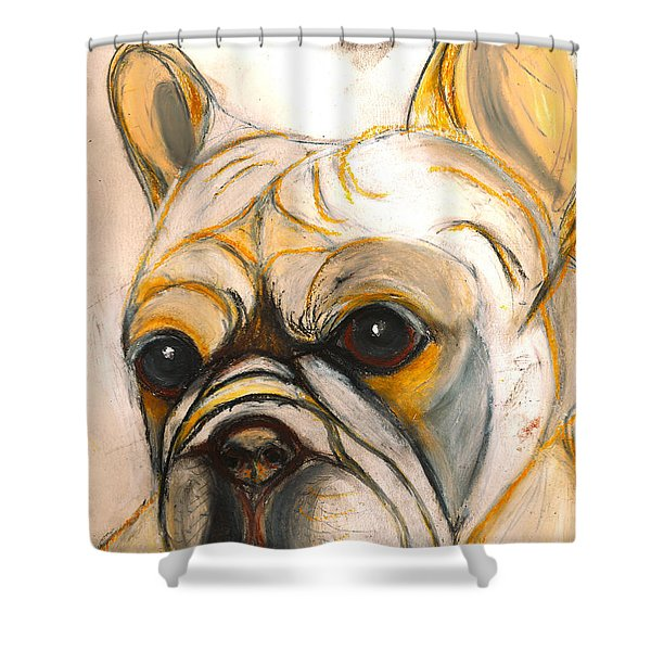 French Bulldog Drawing Shower Curtain