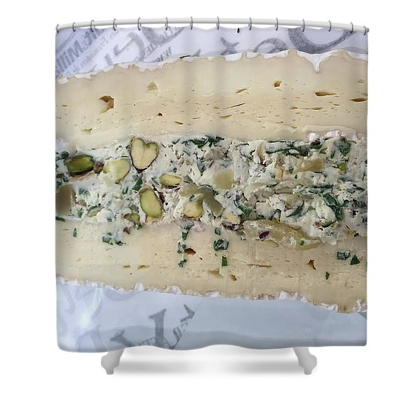 French Cheese Shower Curtain