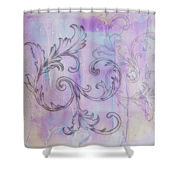 French Country Scroll Shower Curtain