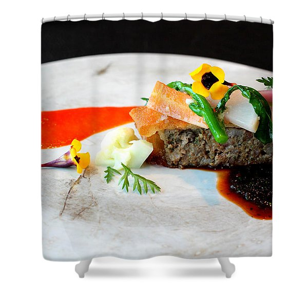 French Course Main Dish Shower Curtain
